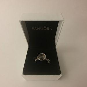 RARE PANDORA Rutilated Quartz beaded ring